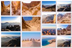 Egypt desert collage - stock photo