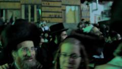 Jewish hasidic dance 8 - uman-ukraine 2014 Stock Footage