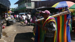 Local streetmarket in Leon Stock Footage