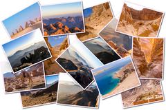 Egypt pictures collage - stock photo