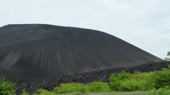 Climbing the Cerro Negro volcano Stock Footage