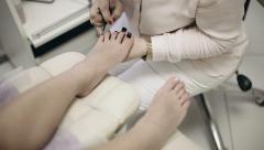 Pedicure in the spa salon Stock Footage