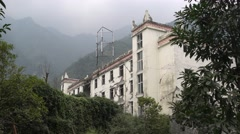 A building in China wenchuan National Earthquake Memorial Museum Stock Footage