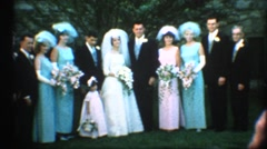 Bride groom and  brides maids for photo,Vintage family Wedding Stock Footage