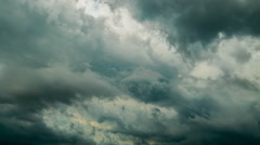 Dark rain clouds, time-lapse Stock Footage