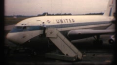 "United Airliner in the 1960""s Stock Footage"