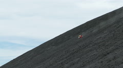 Vulcano boarding on Cerro Negro Stock Footage