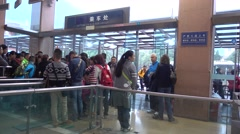 Waiting Area In Emei,tourist Wait The Tour Bus To The Cable System,sichuan,china Stock Footage