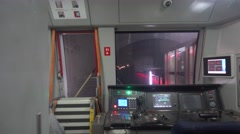 Head of the metro,the control room in the metro, in beijing Stock Footage