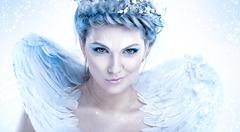 Malicious snow queen - stock photo