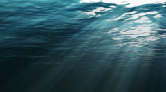 Underwater Sunshine with Waves Stock Footage