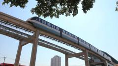 SAO PAULO, BRAZIL Monorail, Zona Leste. Urban transportation, train station - 1 Stock Footage