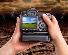 Capturing beautiful landscape against dramatic area Kuvituskuvat