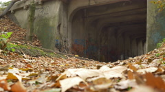 Graffiti Grunge Tunnel Entrance Stock Footage