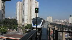 SAO PAULO, BRAZIL Monorail, Zona Leste. Urban transportation, train station - 6 Stock Footage