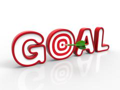 Dart Hitting the Goal, Success Concept Stock Illustration