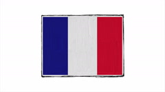 Flag of France. Stock Footage