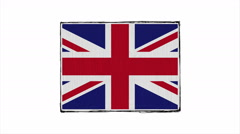 Flag of England. Stock Footage