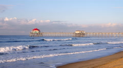 Huntington Beach Pier Stock Footage