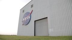 NASA Rocket Warehouse Stock Footage