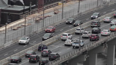 City Freeway Traffic Stock Footage