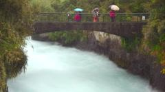 Huka Falls Bridge timelapse Stock Footage