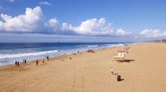 Huntington Beach coast - stock footage