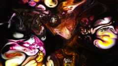 Abstract Colorful Paint Ink Liquid Explode Diffusion Psychedelic Blast Movement - stock footage