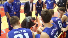 Basketball match: KK Skrljevo and KK Kvarner 2010  Stock Footage