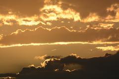 Sunrise in Huntington Beach - stock photo