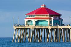 Rubies on Huntington Beach Pier Stock Photos