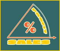 Stock Illustration of Sales grow up diagramm