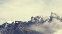 Stock Video Footage of Tungurahua Volcano Crater 2015 Eruption