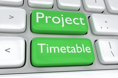 Project Timetable concept Piirros