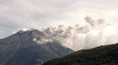 Tungurahua Volcano Eruption Stock Footage