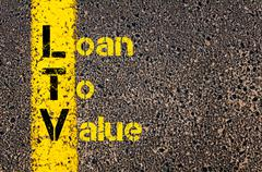 Business Acronym LTV as Loan To Value - stock photo