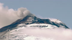 Stock Video Footage of Cotopaxi Volcano Crater During Eruption