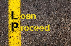 Business Acronym LP as Loan Proceed - stock photo