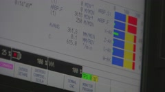 ULTRA HD 4K, real time, zoom; working with control panel of CNC Stock Footage
