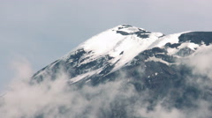 Tungurahua Volcano Crater Covered By Ice Stock Footage