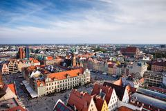 City of Wroclaw Old Town Market Square Stock Photos