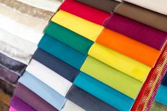 Examples of fabric Stock Photos