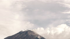 Tungurahua Volcano Establishing Shot Stock Footage