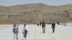 Entrance to the Persepolis ancient city Stock Footage