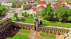 Zwinger Palace (Der Dresdner Zwinger) Art Gallery of Dresden, which was almos Stock Footage