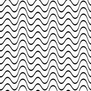 Seamless wavy line pattern - stock illustration