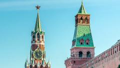 Kremlin Chimes Time Lapse - stock footage