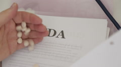 FDA approved medical drugs - stock footage