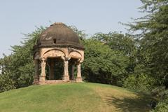 Archaeological building, Mehrauli Archaeological Park, New Delhi - stock photo