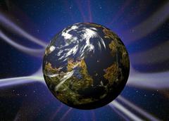 Plasma planet Stock Illustration